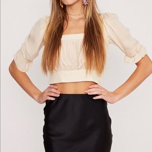 Stone Cold Fox Lou Crop (ivory)